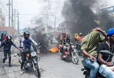 La protesta policial produjo desmanes. Foto AFP