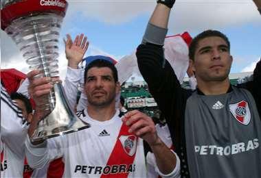 El primer título que Carrizo ganó fue con River Plate en 2008