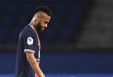 Neymar fue expulsado en el partido contra el Marsella. Foto: AFP