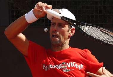 Djokovic se alista para entrar en acción el miércoles. Foto: AFP