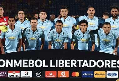 El plantel de Bolívar que jugó las primeras dos fechas de la Libertadores. Foto: internet