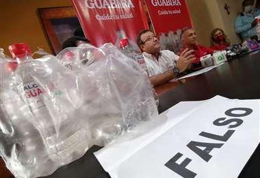 Guabirá denuncia falsificación de alcohol. Foto: Hernán Virgo