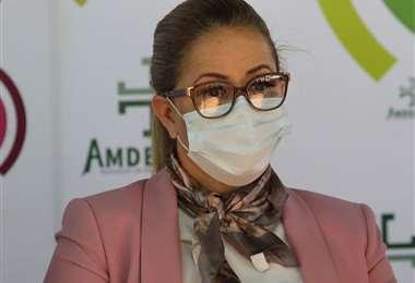La alcaldesa Angélica Sosa.