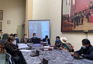 La Comisión Mixta se reunió este martes en La Paz.