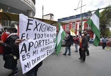 Marcha en La Paz. Foto: APG