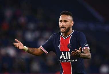 Neymar, delantero brasileño del PSG francés.  Foto: AFP