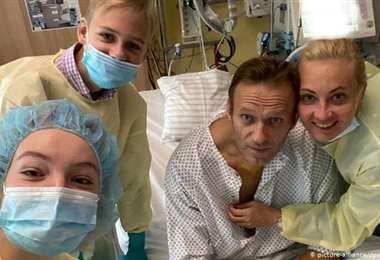 La foto de Navalny en Instagram