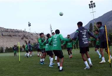 La selección entrenó ayer solo en un turno en el complejo de Villa del Sol. Foto: P. FBF