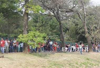 El fin de semana pasado se percibieron largas filas para el ingreso: Foto: Fuad Landívar