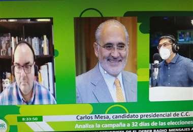 Carlos Mesa estuvo en Influyentes