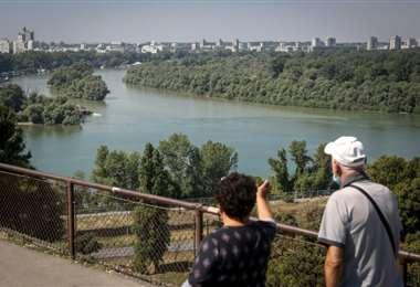 El Danubio a su paso por las cercanías de Belgrado. Foto AFP