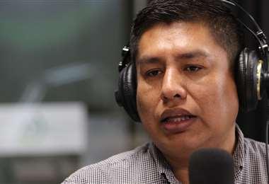 El diputado del MAS, Henry Cabrera.
