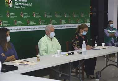 En plena reunión del COED (Foto: Gobernación)