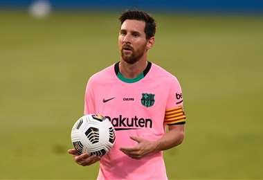 Messi tuvo este miércoles una jornada inspirada. Foto: AFP