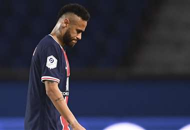 Neymar fue expulsado en el partido contra Marsella. Foto: AFP