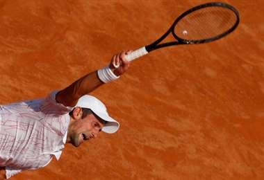 Djokovic en acción en Roma. Foto Internet