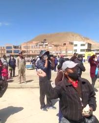 Agresiones a la caravana de Camacho en Oruro