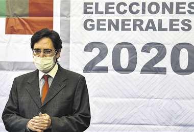El presidente del ente electoral, Salvador Romero, presentó el martes en La Paz el padrón