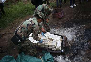 La cocaína incautada (Foto: AFP)