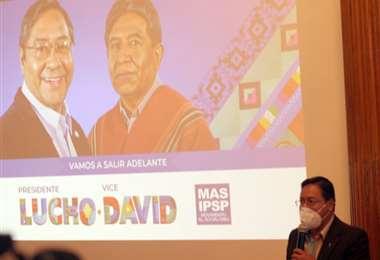 Luis Arce presentó sus propuestas. Foto: Prensa MAS.