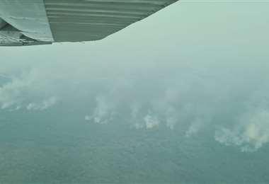 Según López, el fuego afectó al menos 45.000 hectáreas en la zona