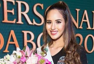 María José Hurtado ganó el título de Miss Personalidad Udabol, elegida de manera virtual