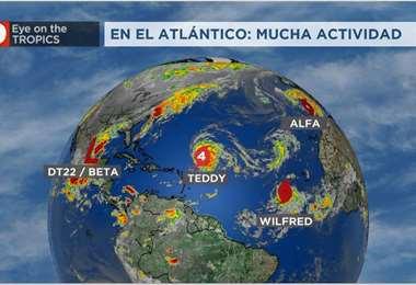 Existe mucha actividad en el océano Atlántico. Foto Internet