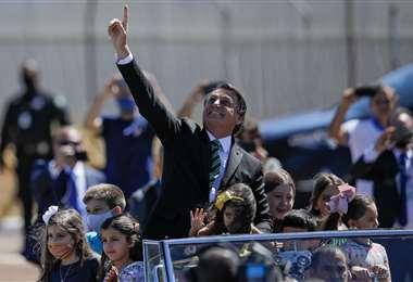 Bolsonaro saluda el Día de la Independencia de Brasil. Foto AFP