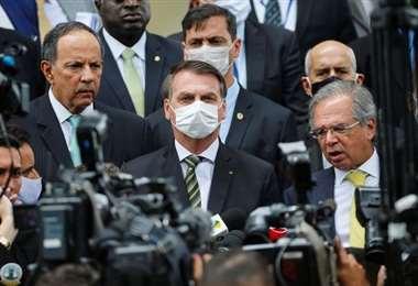 Conferencia de prensa del gobierno brasileño. Foto Internet