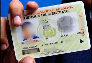 Así es el carné boliviano actualmente