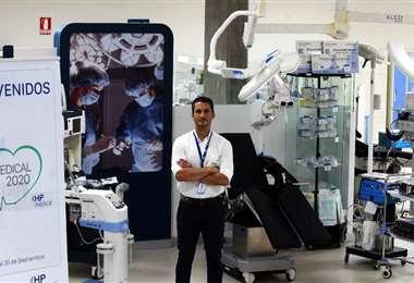 Erwin Hurtado es el gerente comercial nacional de HP Medical. Fotos: Fuad Landívar