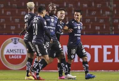 La celebración de los jugadores de Independiente del Valle. Foto: AFP