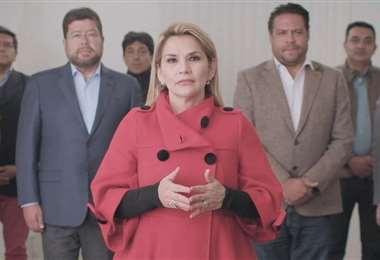 Captura del video de la candidata de Juntos