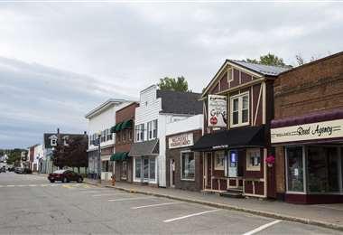 vista del centro de Millinocket, Maine. Foto AFP