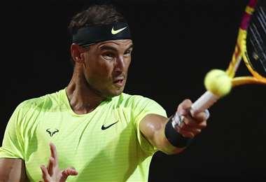 Rafael Nadal, en plena acción. Foto: AFP