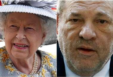 La reina Isabel y Harvey Weinstein. Foto Internet