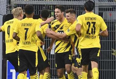 Los jugadores de Borussia Dortmund, en pleno festejo. Foto: AFP