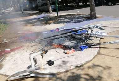 Restos de las fricciones en Cochabamba (Foto: APG Noticias)
