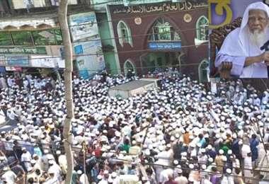 El funeral del líder islamista. Foto Internet