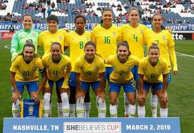 Selección femenina de Brasil en un torneo del año pasado. Foto: internet