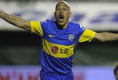 Clemente Rodríguez vistiendo la camiseta de Boca Juniors. Foto: Internet
