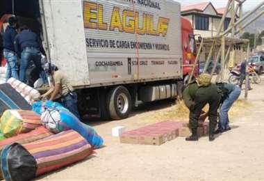 El camión donde fue encontrada la munición I Los Tiempos.