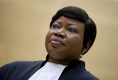 La fiscal general de la CPI Fatou Bensouda. Foto AFP