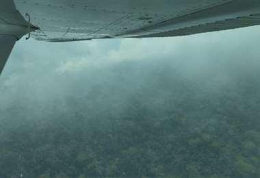 Hace algunos días se hizo un sobrevuelo en la reserva Copaibo (Concepción)