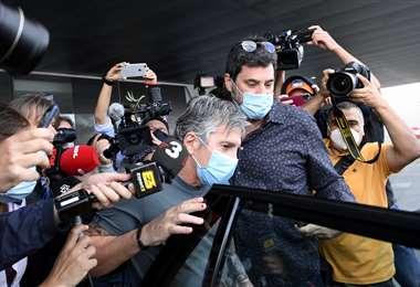 El papá de Messi tuvo este miércoles su primera reunión con la dirigencia del Barcelona.