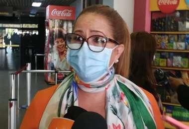 Ángelica Sosa tras su regreso de La Paz