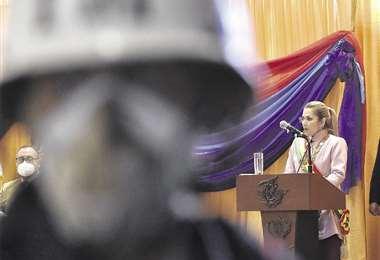 Jeanine Áñez asumió la Presidencia el 12 de noviembre del año pasado. Foto: APG Noticias