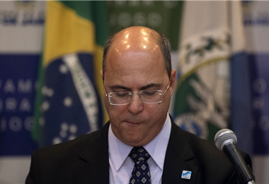 Wilson Witzel, gobernador de Río de Janeiro. Foto. AFP