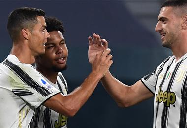 Cristiano celebrando el último gol de la 'Juve'. Foto: AFP