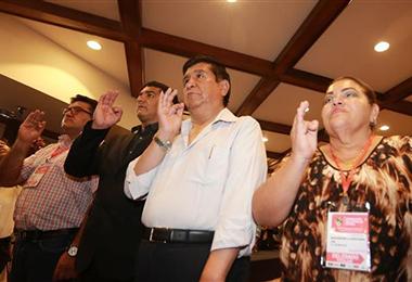En octubre de 2018, Salinas juró como presidente de la FBF . Foto: Internet
